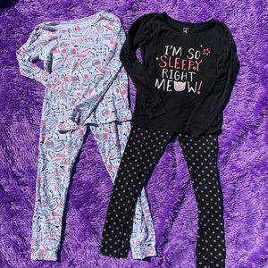 Carters girls lot pajamas